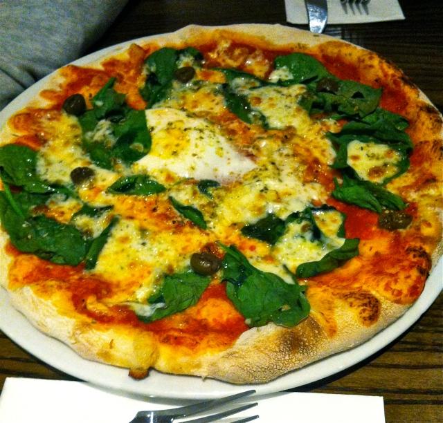 vegetarian pizza at Prezzo