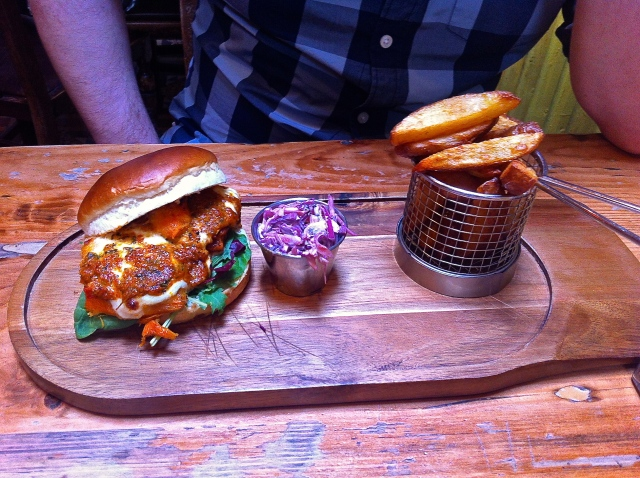 The Orange Tree Leicester sweet potato burger