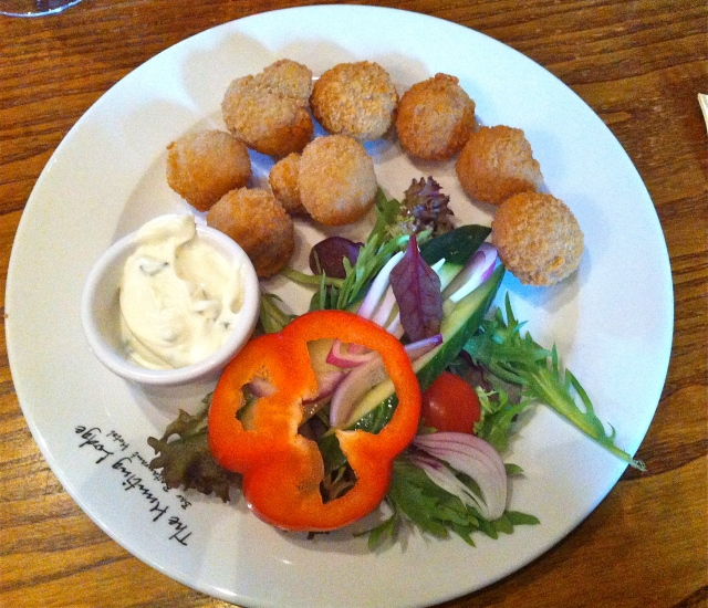 The Hunting Lodge Barrow on Soar vegetarian starter