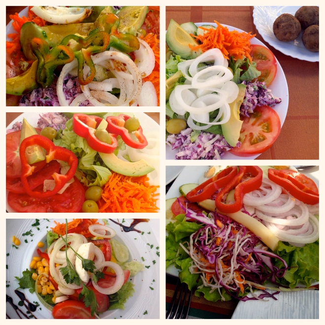 salads in Tenerife