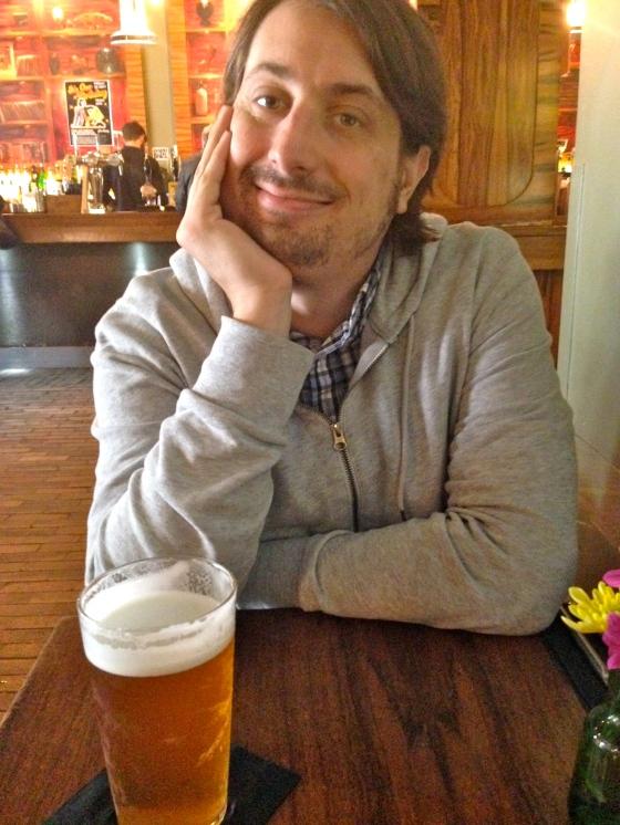 a very happy Andrew