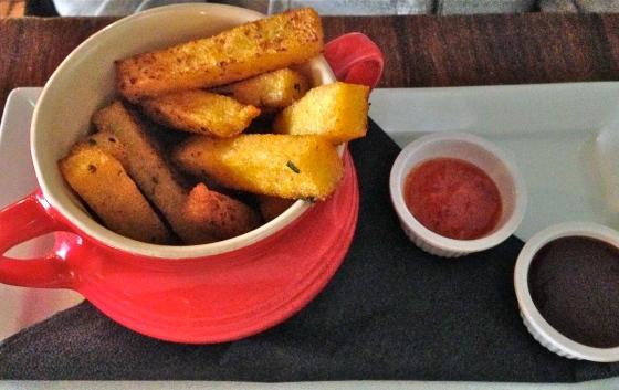 玉米粥薯条