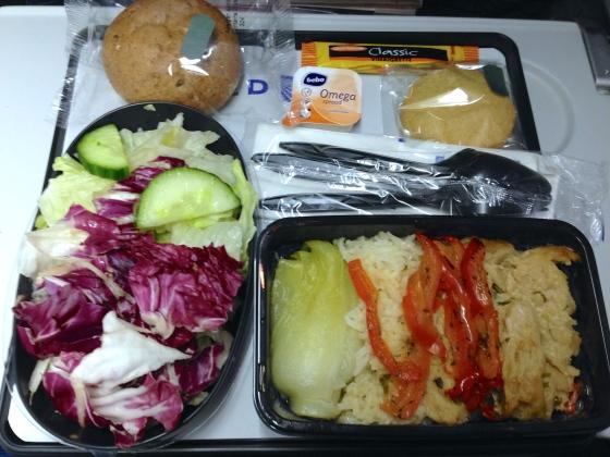 United Airlines vegan dinner