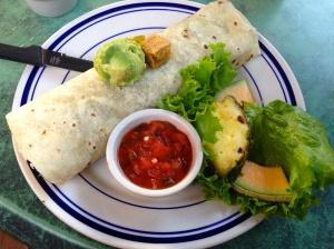 vegan breakfast burrito at Blue Willow in Tucson