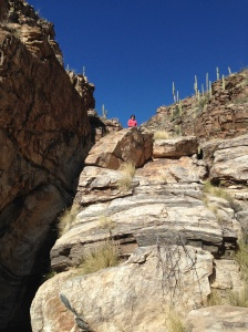 hiking in Milagrosa Canyon, Tucson