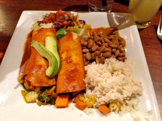 vegan Mexican food at El Charro