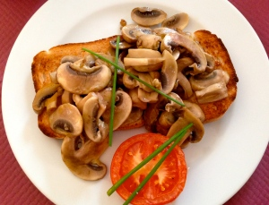mushrooms on toast breakfast